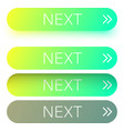 Green next web buttons with arrow isolated on