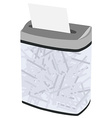 Grey full shredder vector image vector image