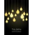 hanging light bulbs vector image