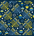 happy hanukkah print background with menorah vector image vector image