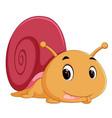 happy snail crawling vector image vector image