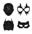 hero and mask logo set of vector image