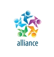 Human Alliance logo vector image vector image