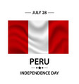 independence day of peru the occasion the flag vector image