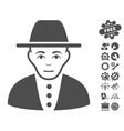 Jew Icon With Tools Bonus vector image vector image
