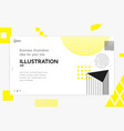 landing page template vector image vector image