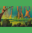 landscape with swamp in tropical forest vector image vector image