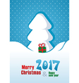 Merry Christmas Card Happy New Year vector image vector image