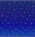 night dark blue background gold stars vector image