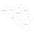 Outline Belgium map vector image vector image