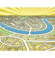 perspective map vector image vector image