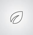 plant outline symbol dark on white background logo vector image vector image