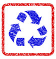 recycle grunge framed icon vector image vector image