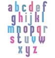 Retro style stripe trendy elegant font vector image vector image
