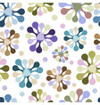 seamless pattern of flowers of unusual pastel vector image vector image