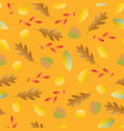 seamless pattern with autumn colorful leaves vector image