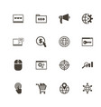 seo - flat icons vector image vector image