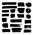 set doodle bubbles black brush strokes vector image