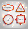 Shining retro light banner Glowing cinema vector image vector image