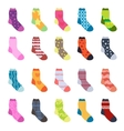 Sock set icons Socks collection flat design vector image vector image