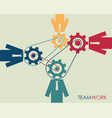 teamwork partnership concept for business vector image vector image