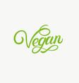vegan hand written lettering vector image