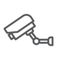 video surveillance line icon electronic device vector image vector image