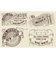 vintage labels set elements organized layers vector image vector image