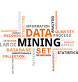 word cloud data mining vector image vector image