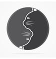 yin yang cats logo vector image vector image