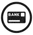 bank card rounded icon rubber stamp vector image
