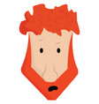 a boy with orange hair and beard color vector image vector image