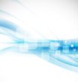 Abstract flow blue background for technology vector image vector image