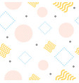 abstract trendy minimal background memphis style vector image