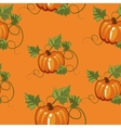 Autumn seamless pattern gift wrapping invitation vector image