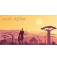 Background with landscape of South Africa vector image vector image