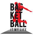 basketball it my life basketman white background v vector image