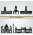Berlin V2 Landmarks vector image vector image