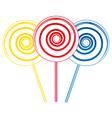 Big lollipops vector image