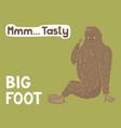 bigfoot creature cute big monster design vector image vector image