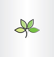 bio plant herb health eco logo icon vector image