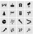 black party icon set vector image vector image