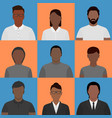black people profile pictures vector image vector image