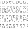 bottles white seamless paths pattern vector image
