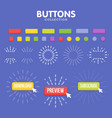 buttons maker constructor create your banner vector image