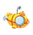 cartoon bathyscaphe vector image