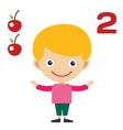 cartoon boy learning game card vector image