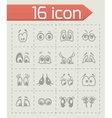 Cartoon eyes icon set vector image vector image