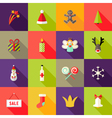 Christmas Square Flat Icons Set 3 vector image vector image