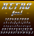 chrome shiny retro vintage font typeface mado vector image vector image